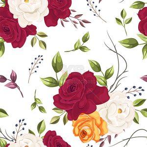Patterns hoa lá liền mạch - KS522