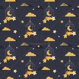 Patterns ngôi sao và mặt trăng trong lồng - KS550
