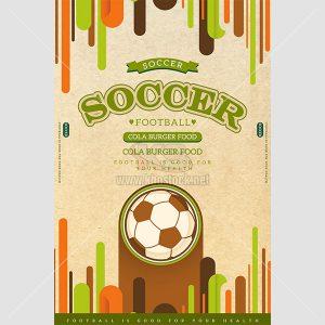 Poster bóng đá phong cách Retro sáng tạo - KS640