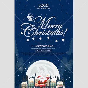 Poster Giáng Sinh Vector tuyệt đẹp - KS625