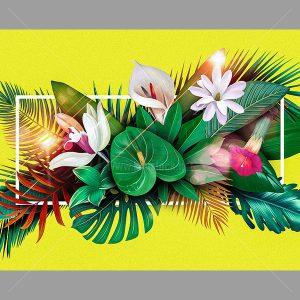 PSD Background hoa lá tuyệt đẹp - KS524