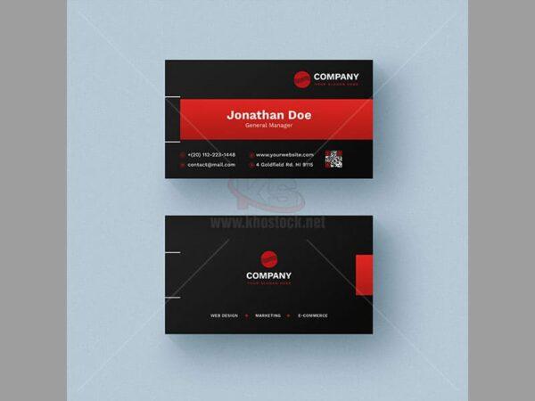 PSD Business Card màu đỏ và đen - KS536