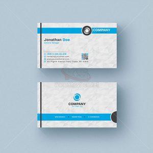 PSD Business Card màu xanh nền trắng poly - KS537