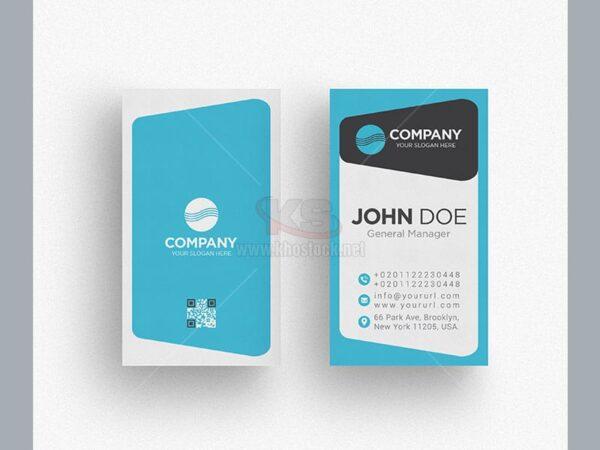 PSD Business Card màu xanh tuyệt đẹp - KS504