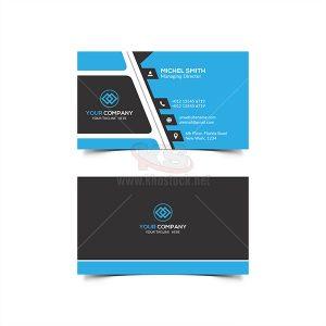 PSD Business Card phong cách phẳng màu xanh – KS557