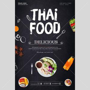 PSD Poster ẩm thực Thái Lan - KS615