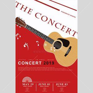 PSD Poster đàn Guitar - KS616