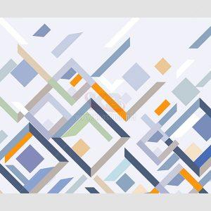 Tranh hình học đa màu sắc - KS591