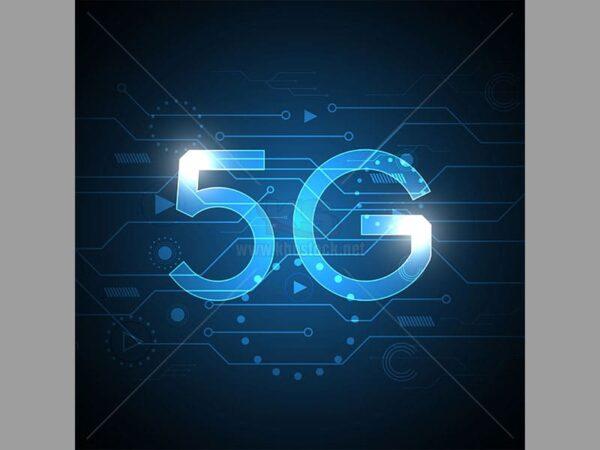 Vector Background 5G màu xanh - KS525