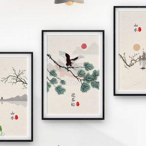 Bộ 3 bức tranh treo tường tuyệt đẹp - KS673