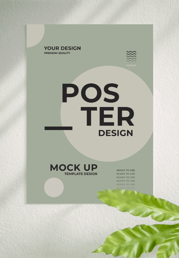 Mockup poster treo tường miễn phí - KS698