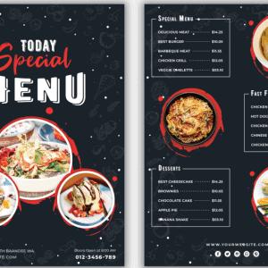PSD menu nhà hàng ẩm thực - KS694