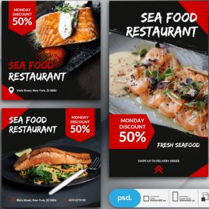 Tờ rơi nhà hàng hải sản - KS697