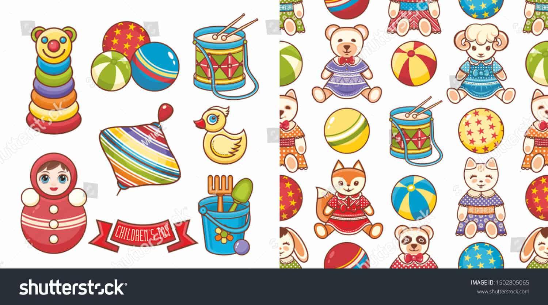 157 ngàn vector thiếu nhi dễ thương dành cho thiết kế trên Shutterstock