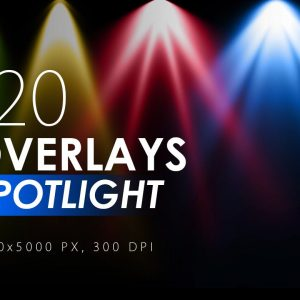 120 Colorful Spotlight Overlays - KS720