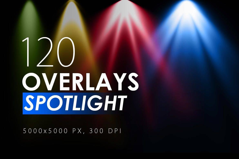 120 Colorful Spotlight Overlays - KS720