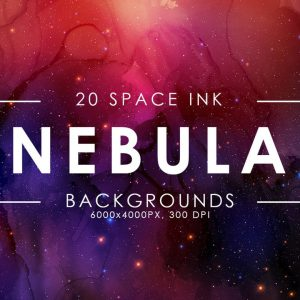 20 Nebula Ink Backgrounds - KS710