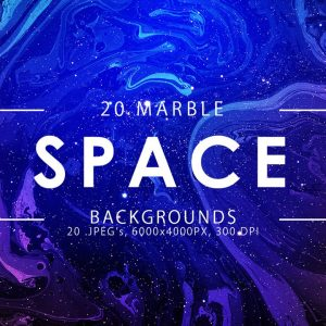 20 Space Marble Backgrounds - KS711