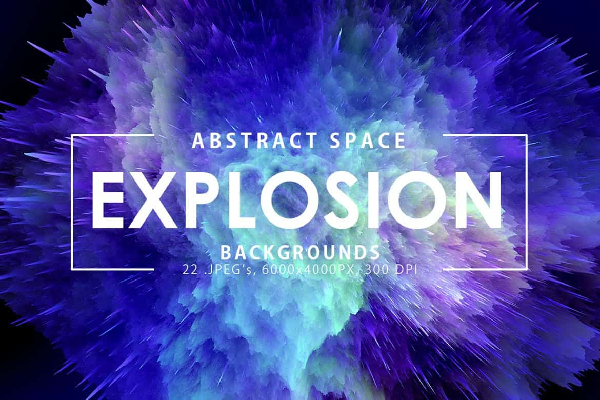 22 Space Explosion Backgrounds - KS708