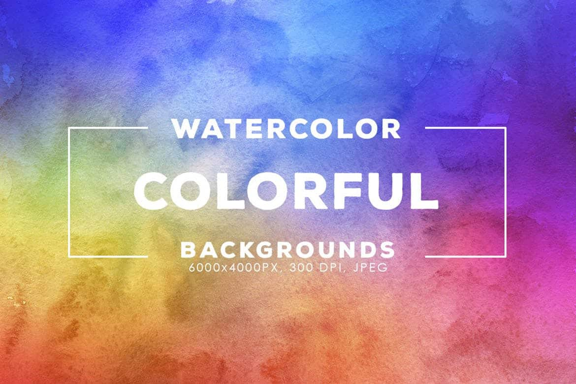 30 Colorful Watercolor Backgrounds - KS719