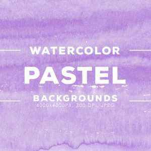 30 Pastel Watercolor Backgrounds - KS718