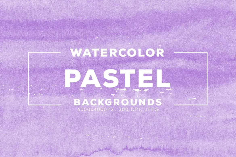 30 Pastel Watercolor Backgrounds - KS718