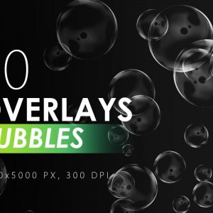 50 Bubble Overlays - KS717