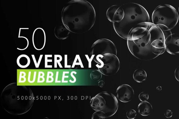 50 Bubble Overlays - KS717