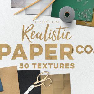 50 Paper Textures Set - KS707