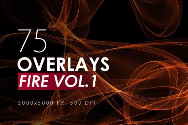 75 Abstract Fire Overlays - KS716