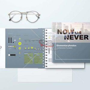 PSD Mockups sách giấy cứng bàn lề lò so - KS730