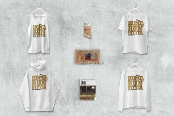 Tank T-shirt Long Sleeve Hoodie Mockup - KS726