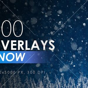 100 Snow Overlays - KS749