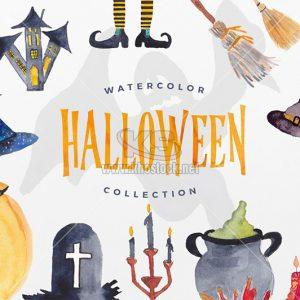 Bộ sưu tập Halloween màu nước - KS744