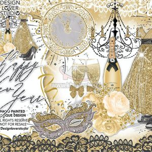 PNG Happy New Year Gold - KS752