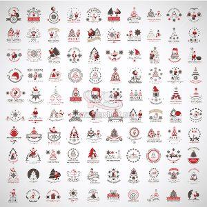 100 Vector Logo Christmas icons tuyệt đẹp - KS872