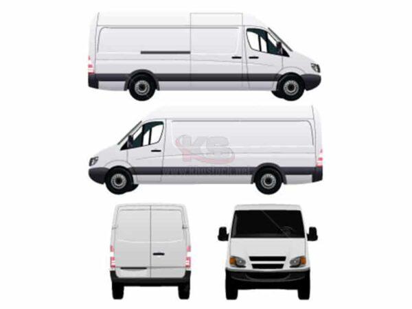 Vector Ô Tô Van màu trắng - KS790