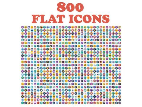 800 Icons phong cách phẳng - KS791