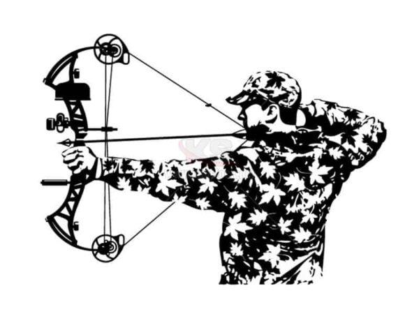 Vector người bắn cung đen trắng - KS792