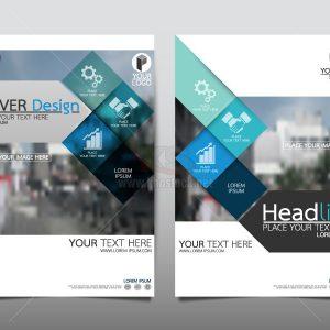 Brochure Flyer Phong Cách Phẳng Vector - KS795