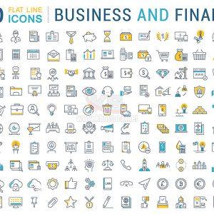 150 ICons kinh doanh và tài chính - KS797