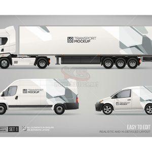 Mockup Xe Tải, Xe Van, Xe Container - KS799