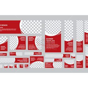 Bộ Vector Banner Website đầy đủ - KS806