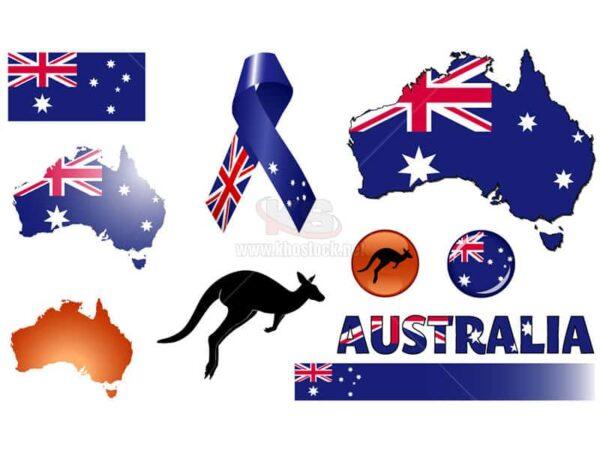 Vector Australia qua các biểu tượng - KS811