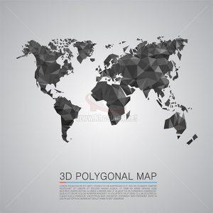 Map 3d Polygon Vector illustration - KS812