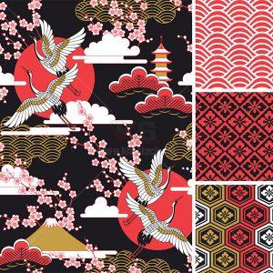Vector Hoa Văn Nhật Bản (pattern ) - KS816