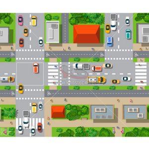 Vector đường phố nhìn từ trên cao - KS819