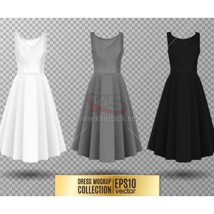 Mockup Váy Đầm Nữ Vector - KS825