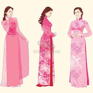 Vector áo dài truyền thống Việt Nam - KS838