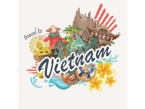 Vector thiết kế du lịch Việt Nam - KS842